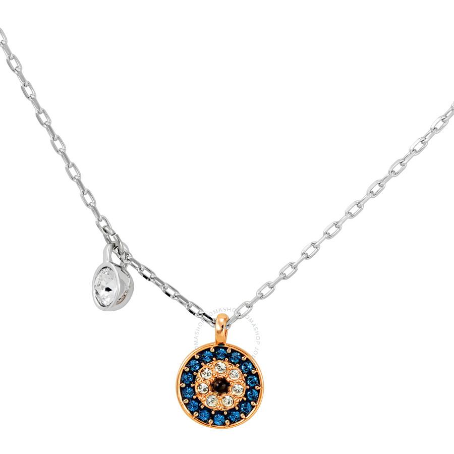 Swarovski Crystal Wishes Evil Eye Pendant Set, Blue