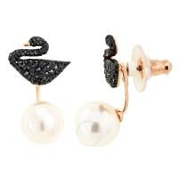 Swarovski Iconic Swan Pierced Earrings - Swarovski ...
