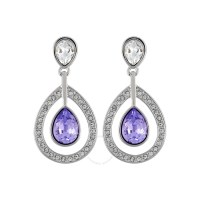 Swarovski Mila Pierced Lavender Crystal Earrings 1126761 ...