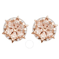 ba655aca6b595 Carucci Pink Flower Earrings | Gardening: Flower and Vegetables