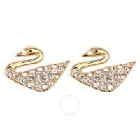 Swarovski Swan Mini Pierced Earrings 5144289 - Swarovski ...