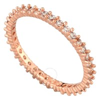Swarovski Vittore Rose Gold-Plated Ring Size 6 - Swarovski ...