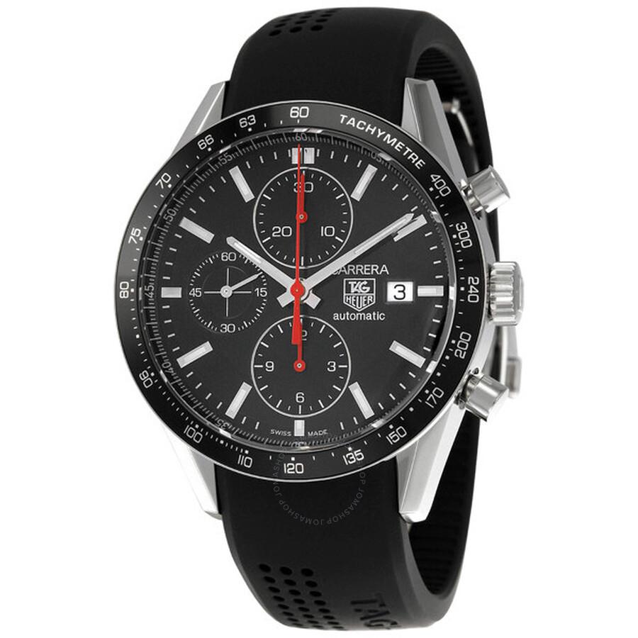 Tag Heuer Carrera Classic Tachymeter Black Men's Watch CV2014.FT6007 - Carrera - Tag Heuer - Watches - Jomashop