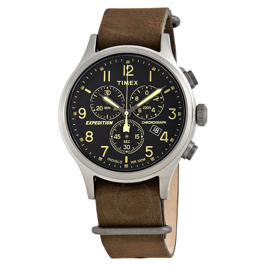 timex expedition scout black