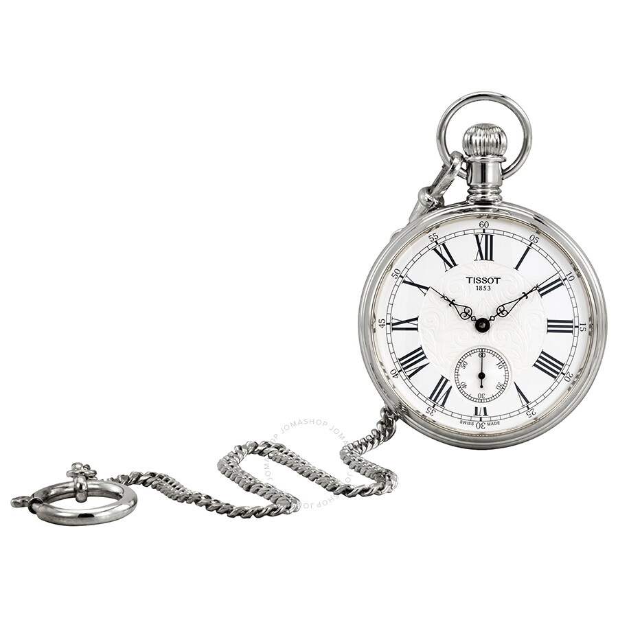 Tissot Lepine Silver Dial Hand Wound Pocket Watch T861.405