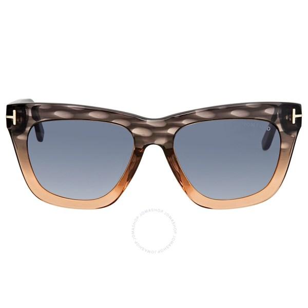 Tom Ford Grey Gradient Square Sunglasses Ft0361 20b