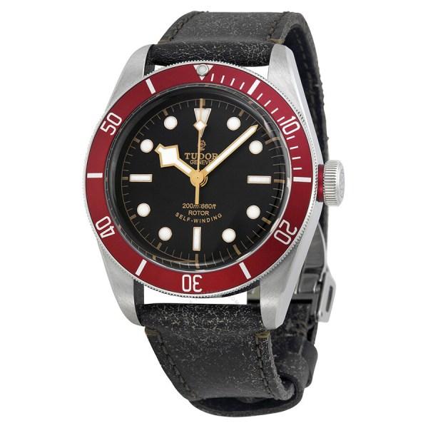 Tudor Heritage Black Bay Black Leather Men's Watch 79220R ...