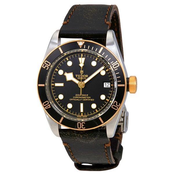 Tudor Heritage Black Bay Automatic Men's Aged Leather ...