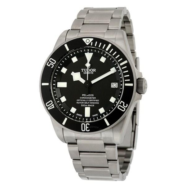 Tudor Pelagos Chronometer Black Dial Titanium Men's Watch ...