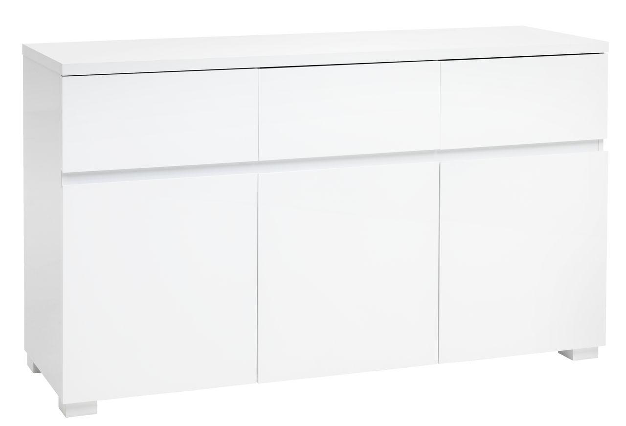 Dressoir OMME 3 deurs wit hoogglans  JYSK