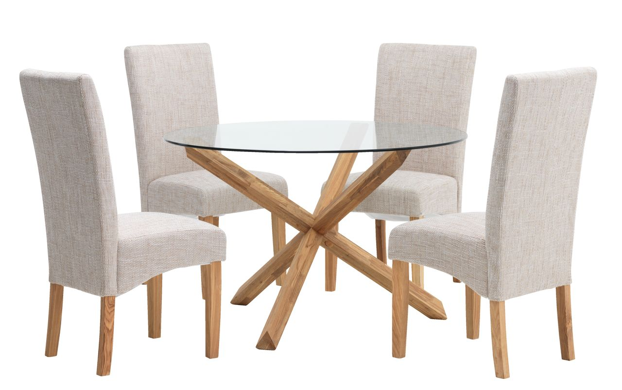jysk dining room chair covers kmart table and chairs outdoor agerby d119 glass 4 borup natural