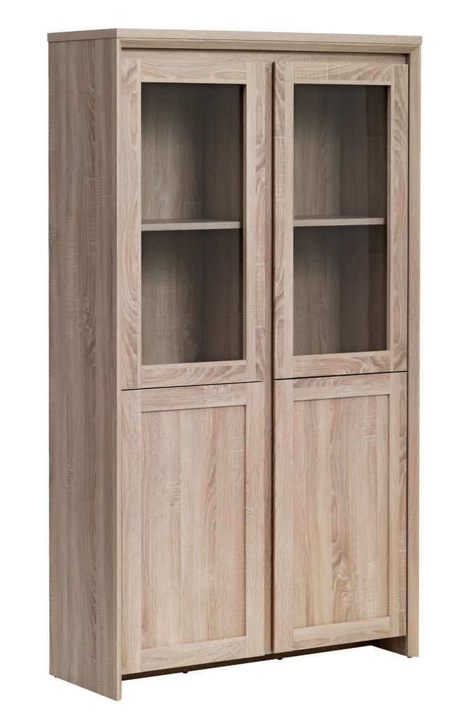 Display cabinet HALLUND 2 door oak  JYSK