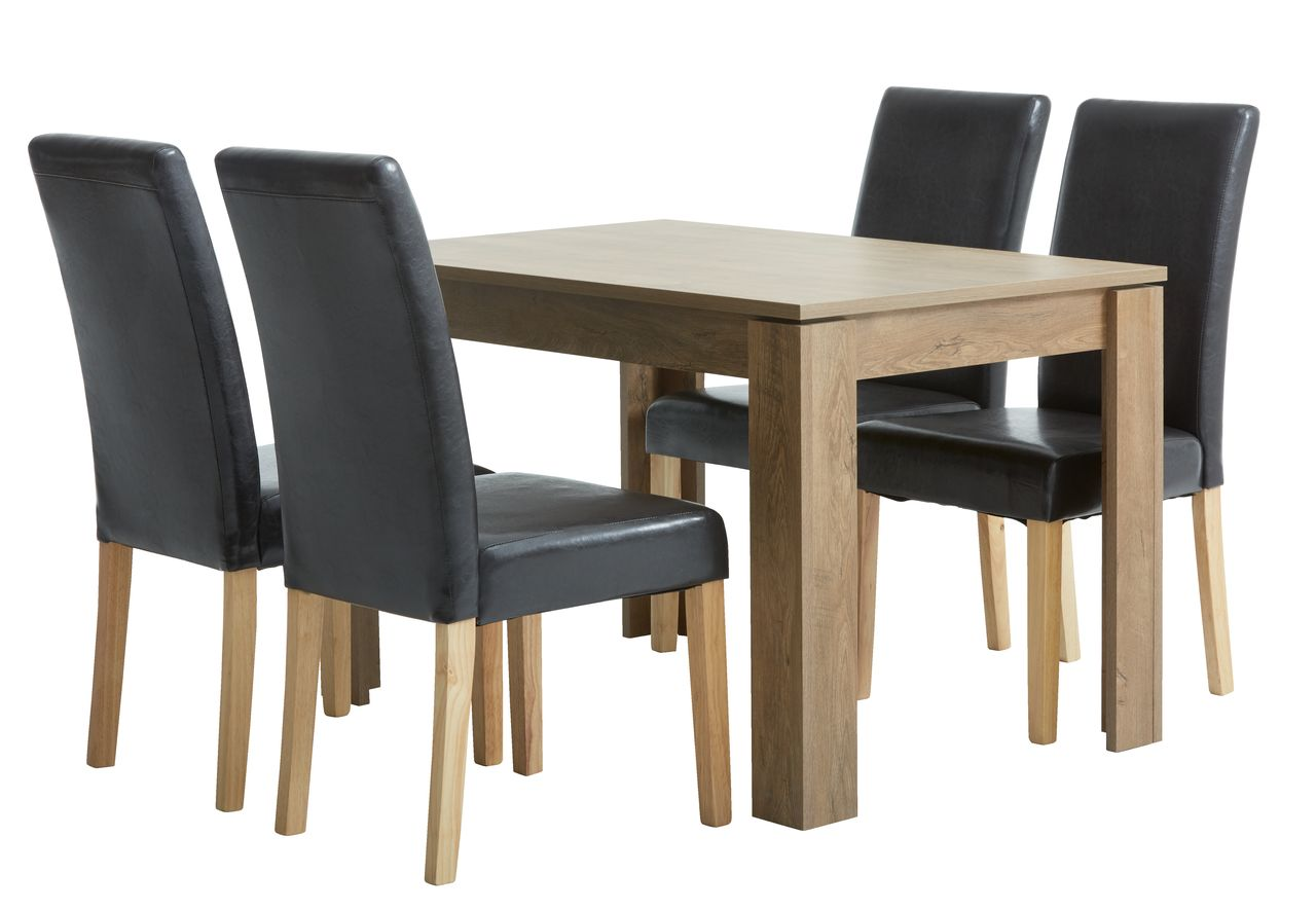 jysk dining room chair covers plastic online india vedde l120 w oak 43 4 tureby brown