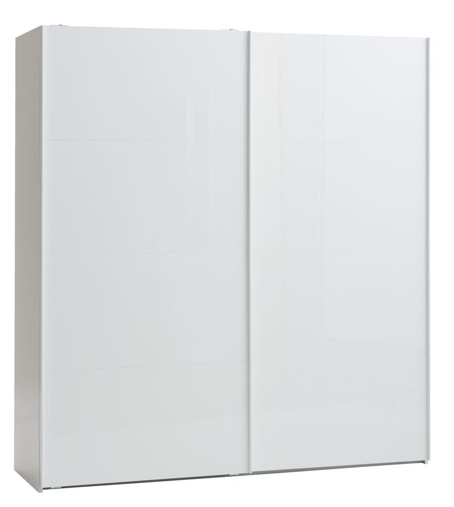 Kledingkast ONSTED 202x221 wit hoogglans  JYSK