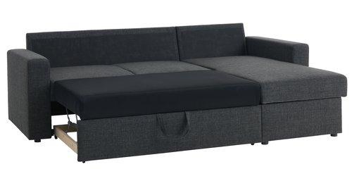 Slaapbank chaise longue HAVDRUP dgrijs  JYSK