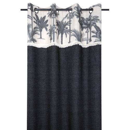 rideaux voilages ombre imprime poly