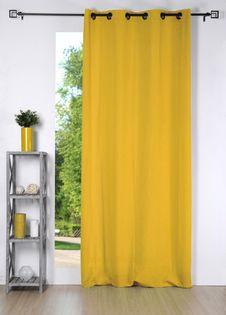 rideau uni jaune moutarde cusco 135x240 cm
