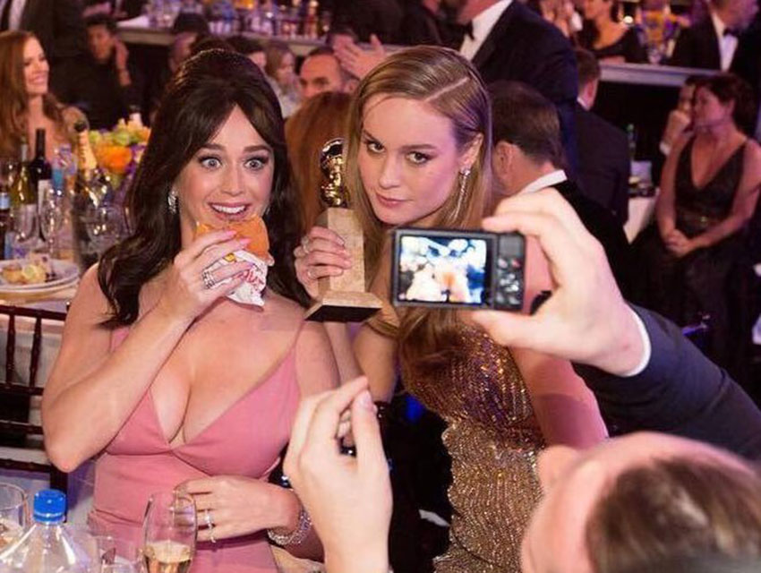 Burger Fiend Katy Perry Smuggled InNOut into the Golden Globes Los Angeles Magazine