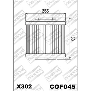 Buy CHAMPION OILFILTER COF045 DIVERSE YAMAHA (X302