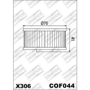 Buy CHAMPION OILFILTER COF044 DIVERSE YAMAHA (X306