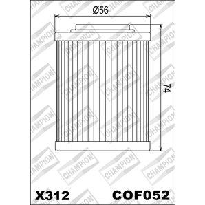 Buy CHAMPION OILFILTER COF052 DIVERSE APRILIA (X312