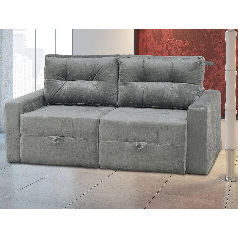 sofa cama walmart brasil grey sectional with chaise sofá 2 lugares sofia matrix cinza r 899 90 em