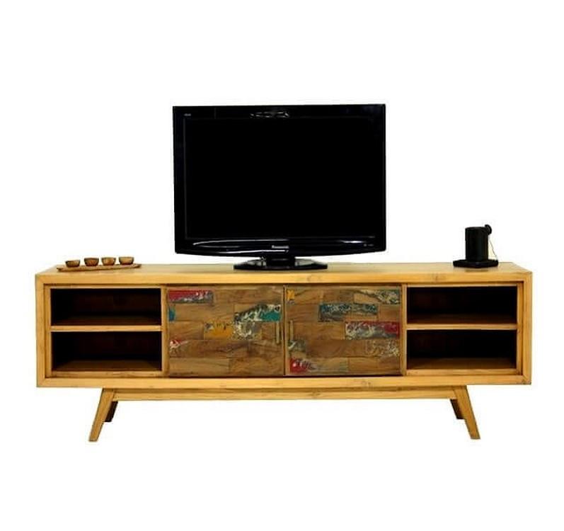 meuble tv bois massif teck