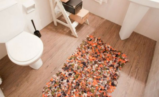 alfombras retazos de tela  Me lo dijo Lola