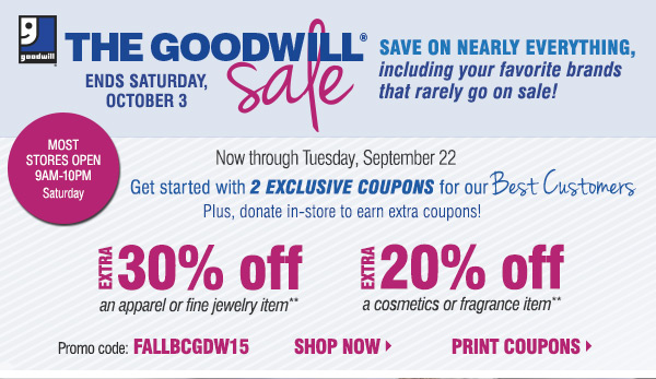 Goodwill Coupons Printable 2018