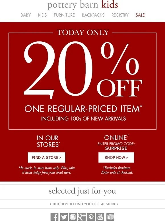 Pottery Barn Coupons May 2017
