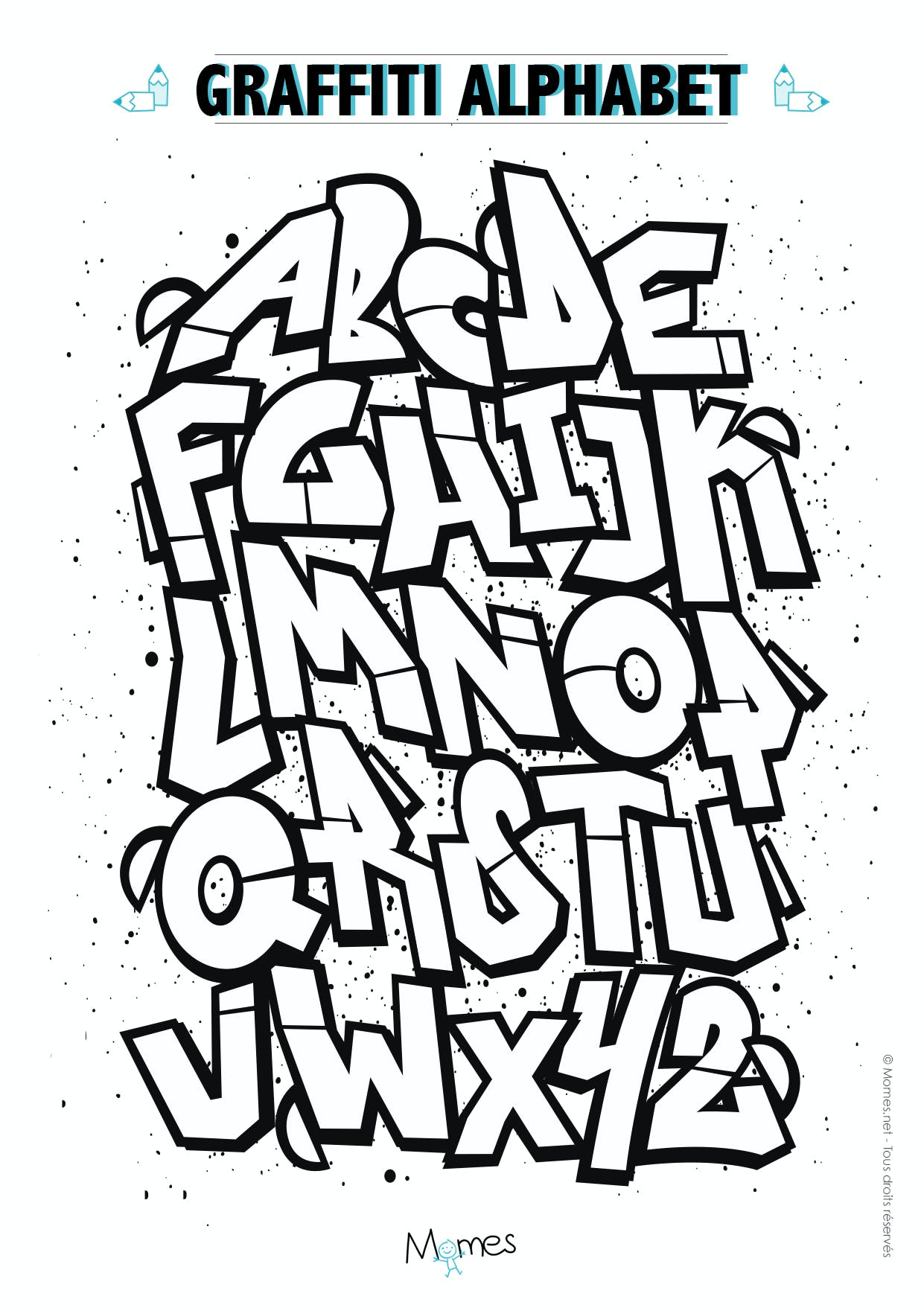 Coloriage Alphabet Graffiti
