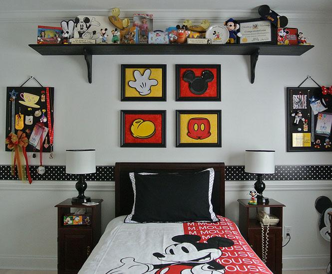 La chambre denfant Mickey Mouse retro  Momesnet