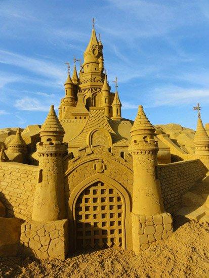 Le grand Chteau de sable de la Belle au Bois Dormant Paris Plage 2011  Momesnet