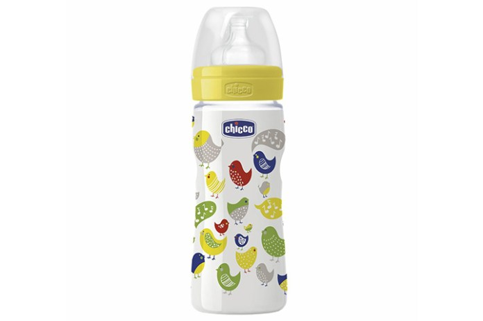 Chicco Baby Well Being Feeding Plastic Silicon Bottle
