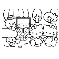 free printable hello kitty coloring pages # 7