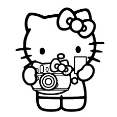 free printable hello kitty coloring pages # 12