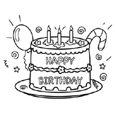coloring pages happy birthday # 3