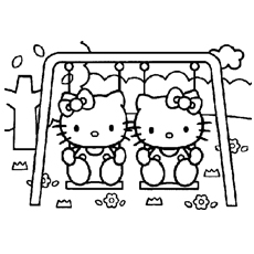 hello kitty free coloring pages # 1