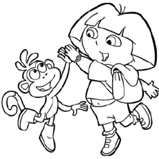 dora coloring pages printable # 2