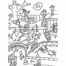 Top 25 Free Printable Zoo Coloring Pages Online | free printable colouring pages zoo animals