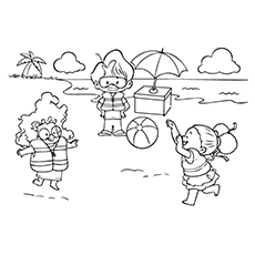 Beach Coloring Pages : 20 Free Printable Sheets to Color
