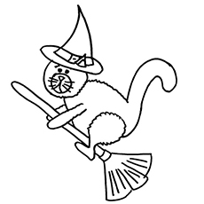 black cat coloring page # 13