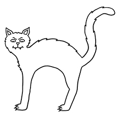 black cat coloring page # 0