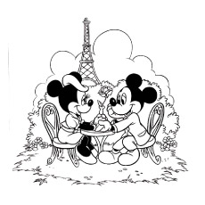 minnie and mickey mouse coloring pages # 9