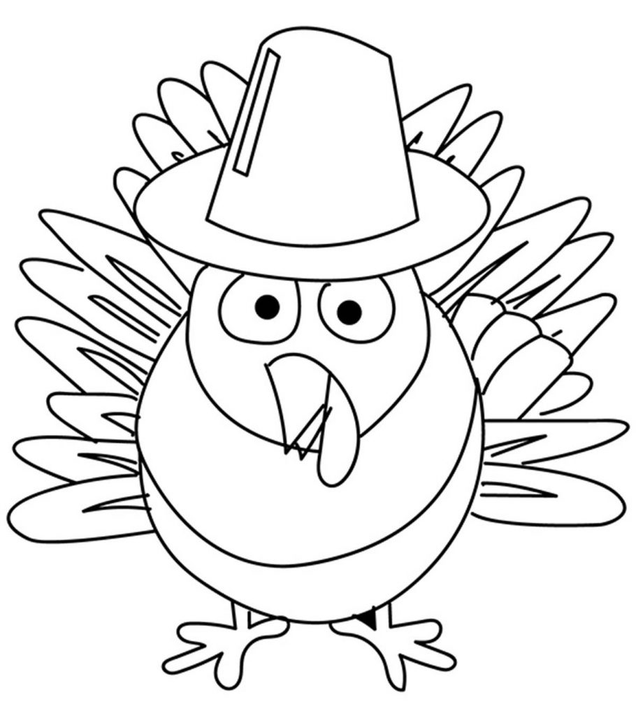 Top 10 Free Printable Thanksgiving Turkey Coloring Pages