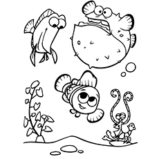 finding nemo coloring page # 16