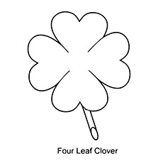 image relating to 4 Leaf Clover Printable identify 4 Leaf Clover Printable Coloring Web pages