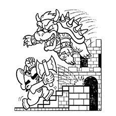 bowser coloring page # 15
