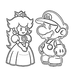 super mario brothers coloring pages # 12
