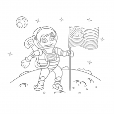 Top 10 Free Printable Astronaut Coloring Pages Online